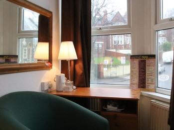 Room 3- Desk and tea and coffee