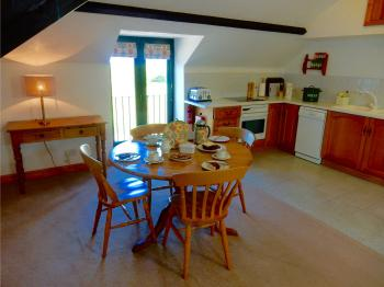 The Kitchen and Dining Area in Ivy Cottage