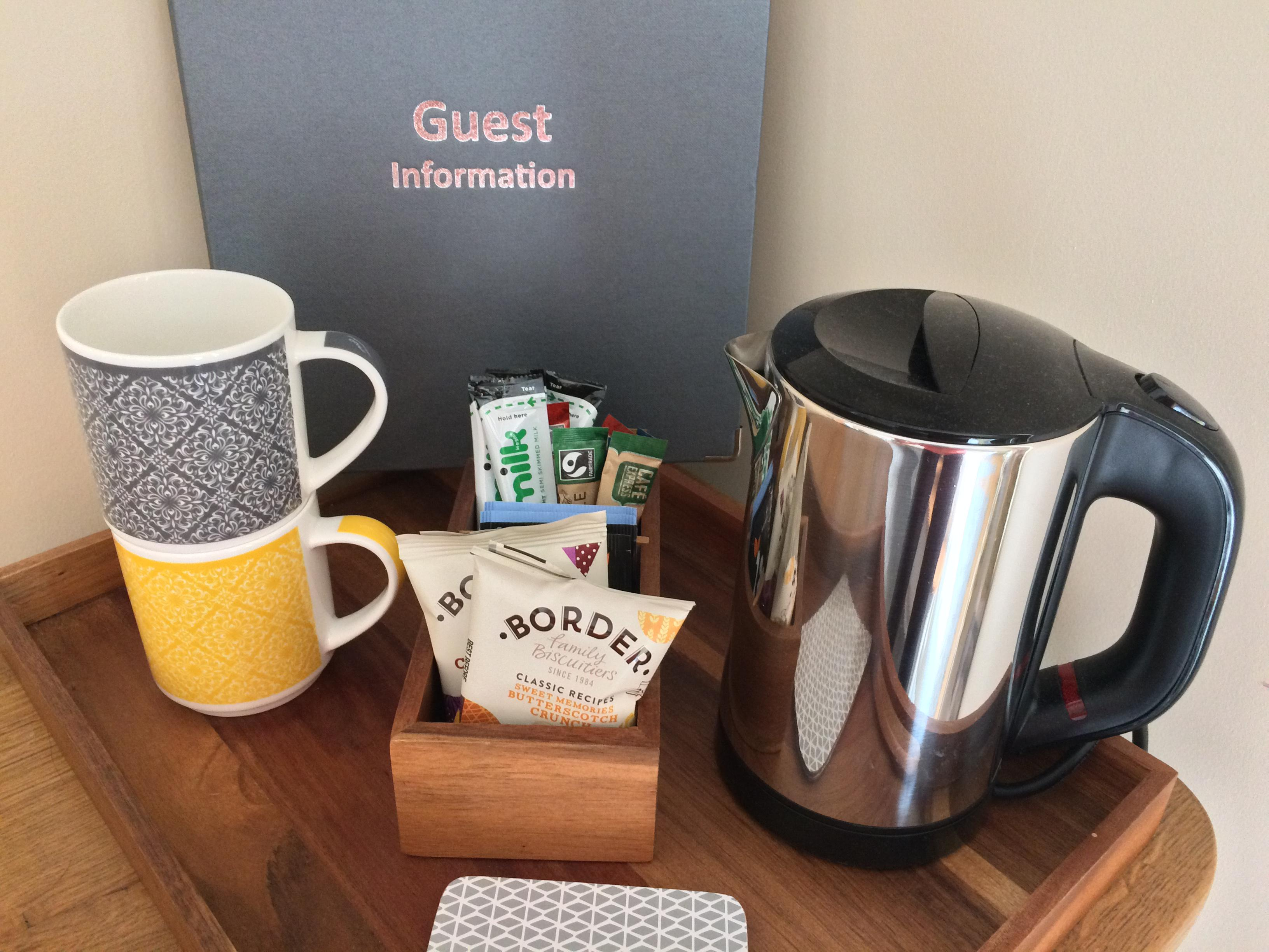 Hospitality Tray & Guest Information