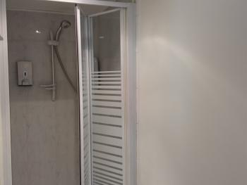 Separate shower on first floor  outside rooms 1 and 2