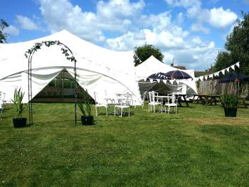 The large garden is ideal for private functions