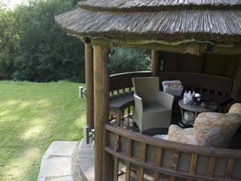 Private Dining or Outside Spa Treatments are all possible in the Gazebo