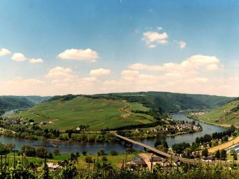 Mosel Panorama, Blick auf Nehren