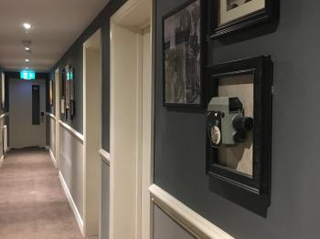 The hallway for the superior rooms
