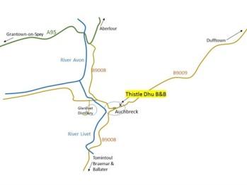 Directions to Thistle Dhu B&B