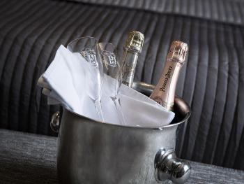 Order Champagne upon arrival