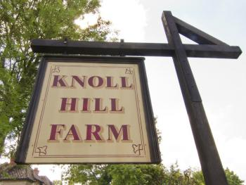 Entrance Sign for The Place To Stay, Knoll Hill Farm