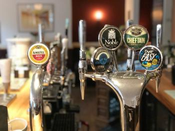 A great selection of beers and ales on tap