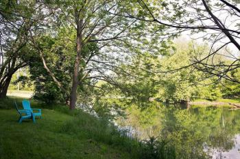 Relax on the banks of the North Fork of the Shenandoah River.