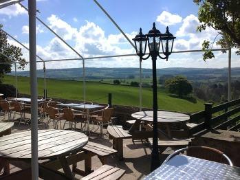 beer garden & view