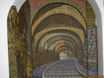 mural; Calle Subterranea Padre Miguel Hidalgo