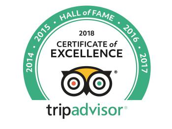 TripAdvisor Hall of Fame recipient