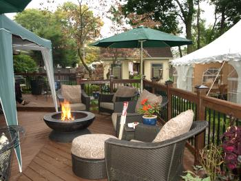 Backyard deck