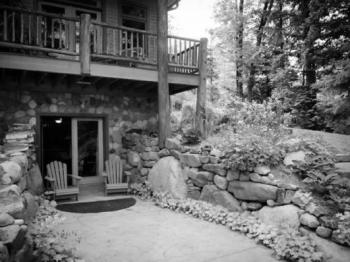 """the patio outside """"Forest""""- fire pit just just out of the picture in the bottom left"""