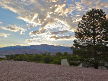 Our 3 Back-in RV sites have a Spectacular View towards the Monroe Mountain.