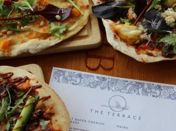 Home made flat breads at The Terrace