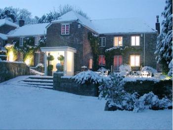 Boscundle Manor covered in snow
