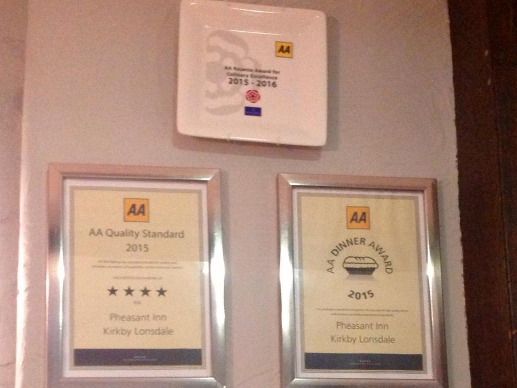 AA 1 Rosette Award, 4 Star Quality Standard & AA Dinner Award
