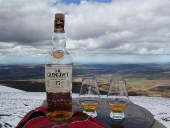 Top of Ben Rinnes, local whisky, local place!