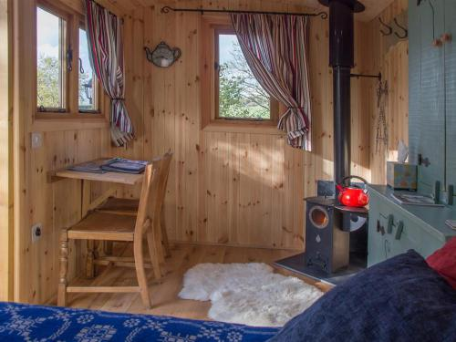 Wood burner and sitting area