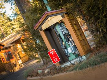 Tesla/Universal charging station for our guests!