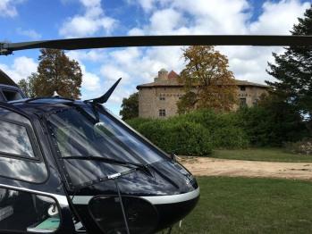 Accès en hélicoptère