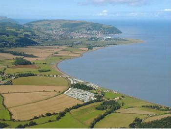 Blue Anchor bay from the air
