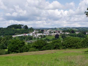 view of Llandeilo from the top field