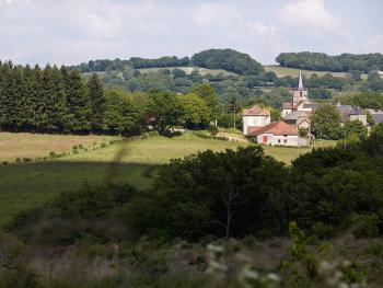 View of the village of Vergheas