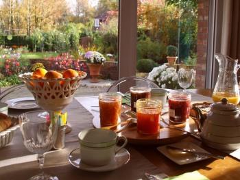 A la Maison du Héron - petit déjeuner