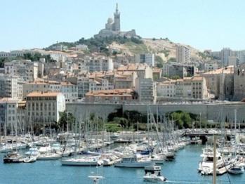 Marseille et le Vieux-Port Vue d'illustration