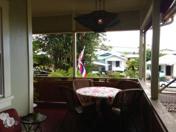 Hilo Bay Hale B&B Front Porch