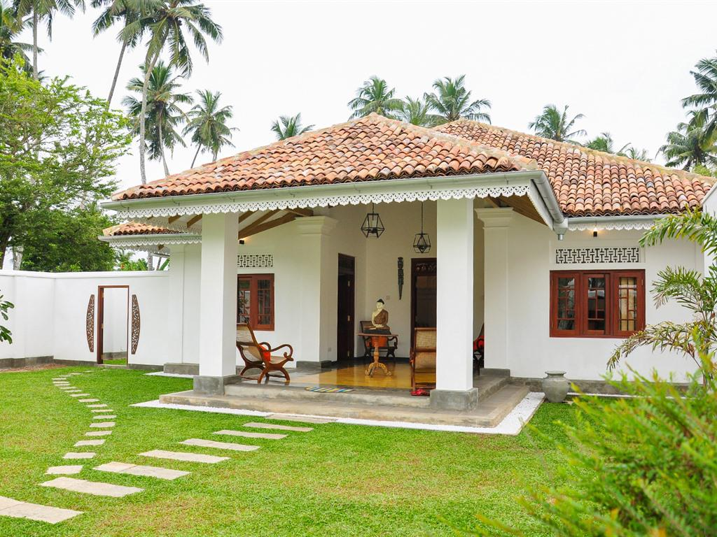 The villa sits in its own private and secluded walled garden.
