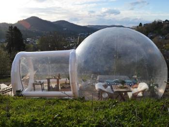 La bulle transparente vue de dehors