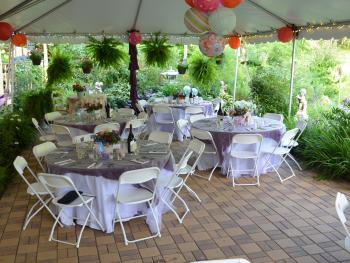 Wedding set up under the tent