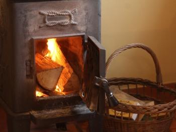 The Wheelwrights cosy woodburner