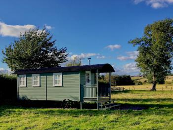 Leveret, our luxury shepherd's hut.