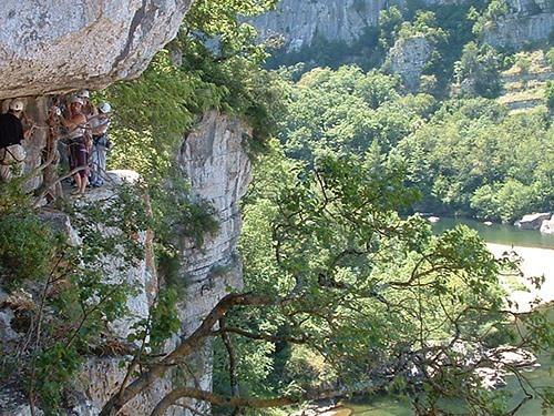 La via corda des gorges du Chassezac avec Explo