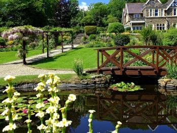 Gardens towards hotel