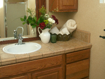 Meritage's decorative bathroom