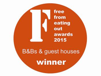 Winner Free From Eating out Award 2015... best B & B