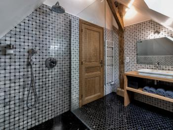 Triple-de Luxe-Salle de bain et douche-Vue sur Parc-2