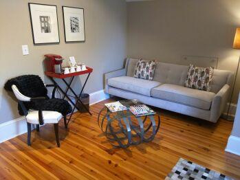Sitting area in Suite 4