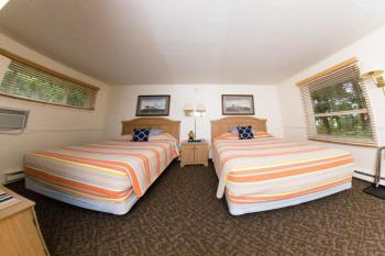 Motor Lodge Hillside Room 8, nautical theme with 2 queen beds non-smoking.