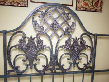 Detail from Bedstead, Queen English Garden Room