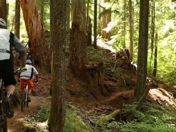 Mountain biking the river trials