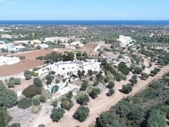 Vista aerea di Masseria Pelosella