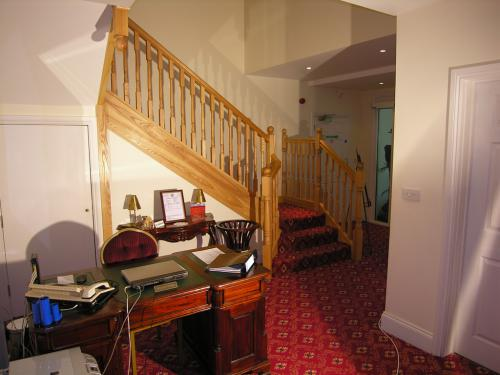Reception area and stairs to 1st floor rooms