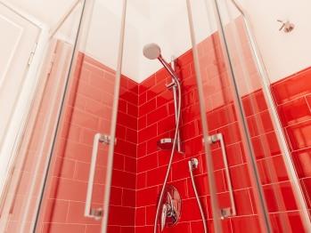 Bagno stanza Rossa, particolare
