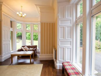 With dual aspect overlooking the grounds the lounge is bright and airy